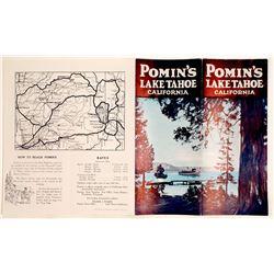 Pomin's Lake Tahoe Brochure