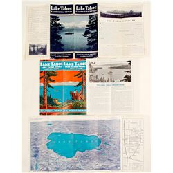 Three Different Lake Tahoe Sierra Association Brochures