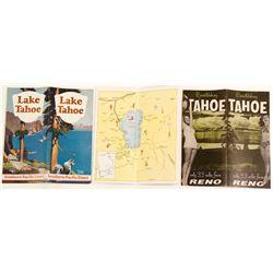 Three Lake Tahoe Brochures