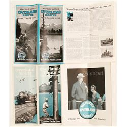 Two Different Overland Route to Lake Tahoe Brochures