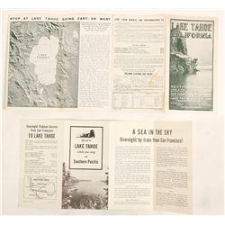 Two SP / Lake Tahoe Brochures