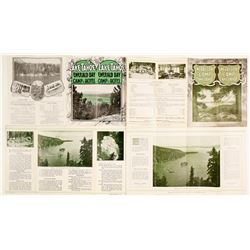 Very Rare 'Emerald Bay Camp' Brochures