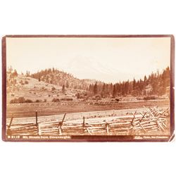 Taber Photograph of Mt. Shasta from Cavanaughs.