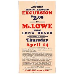 Mt. Lowe, CA Pacific Electric Train Broadside