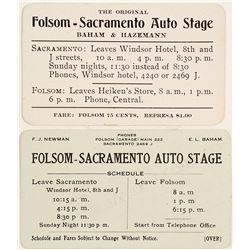 Folsom - Sacramento Auto Stage Business Cards