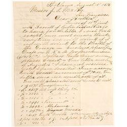 1876 Letter Between Meussdorffer Brothers, Pioneer SF Hatters