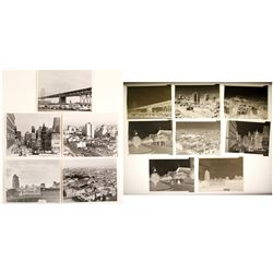 Eight Original 3.25 x 4.25 Black & White Negatives of San Francisco