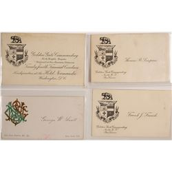 San Francisco & San Jose Fraternal Calling Cards