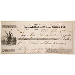 Gold Rush Era Check from Rhodes & Co., Yreka, California