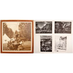 4 Ansel Adams Yosemite Prints