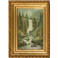 Vernal Falls Oil Painting