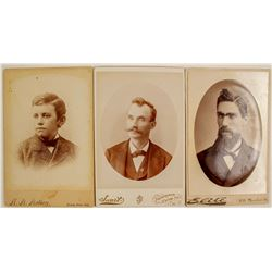 California Male Cabinet Card Portraits