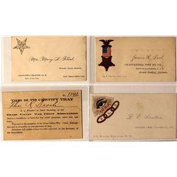 California Motherlode Fraternal Calling Cards