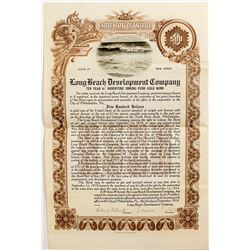 Long Beach Development Company Certificate