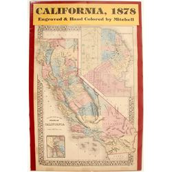 Map of California 1878