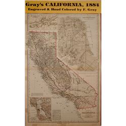 Map of California 1884