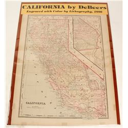 Map of California 1886