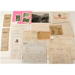Motherlode Letters, Billheads & Postcard