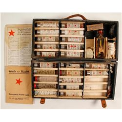 Vintage Red Star Medicine Co. Case and Formulas, Greeley, Colorado