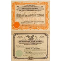 Two West Palm Beach, Florida Stock Certificates