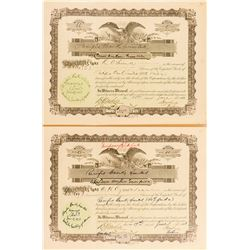 Pacific Bank Company Stock Certificates (Territory of Hawaii)