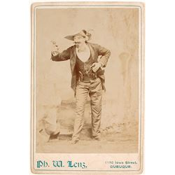 Cabinet Card of Man Playing the Part of Jesse James?