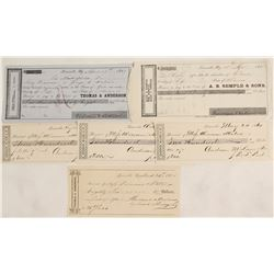 Louisville, Kentucky 1850s & 1860s Receipts