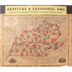 Map of Kentucky & Tennessee