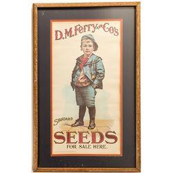 Vintage DM Ferry Seeds Poster