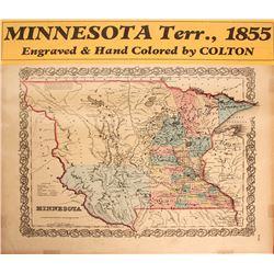 Map of Minnesota Territory