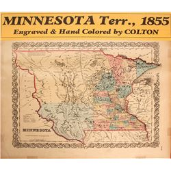 Map of Minnesota Territory