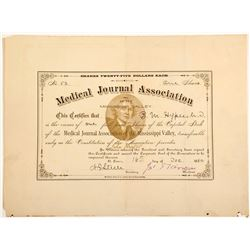 Medical Journal Association of the Mississippi Valley Certificate