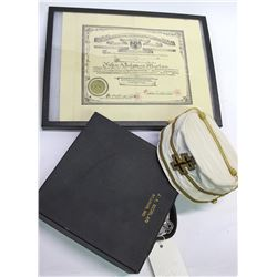 Mason Inspector General 33rd Degree Hat and Certificate