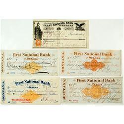 5 First National Bank of Helena Checks