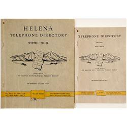 Two Helena, Montana Telephone Directories