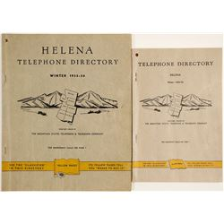 Two Helena, Montana Telephone Directories