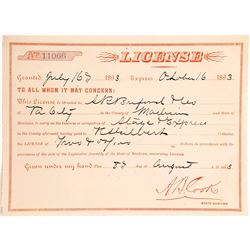 Virginia City, Montana Stage & Express Line License