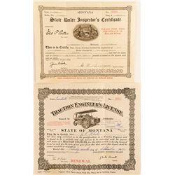 2 Montana Engineer Licenses
