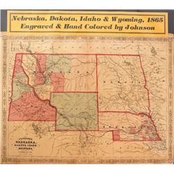 Map of Nebraska, Dakota, Idaho & Wyoming