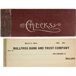 Unused Bullfrog Bank & Trust Co. Checkbook