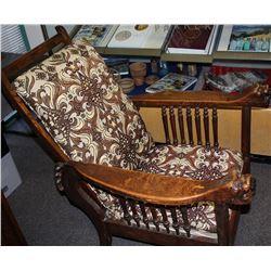Antique Oak Recliner found in Dayton