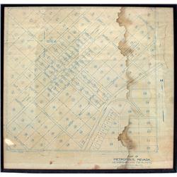 Metropolis, Nevada Blue Print Plat Map