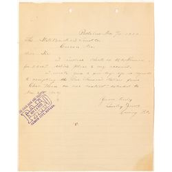 Rare Pactolus, Nevada Datelined Lettersheet