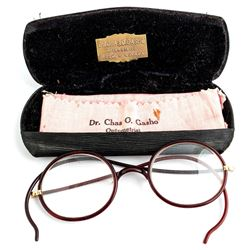 Dr. Charles O Gasho Glasses and Case, Reno, Nevada