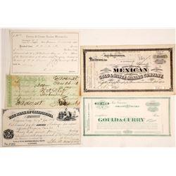 Virginia City & Gold Hill Ephemera (Wells Fargo, Mining, Banking)