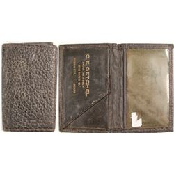 Virginia City, NV Leather Business Card Holder