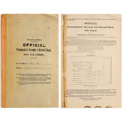 Official Postmasters' Account & Record Book, Washoe, NV 1913