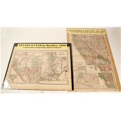 Maps of Nevada & Utah; California & Nevada (2)