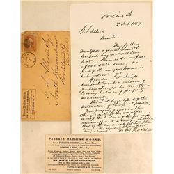 Passaic Corner Cover, Letter and Business Card