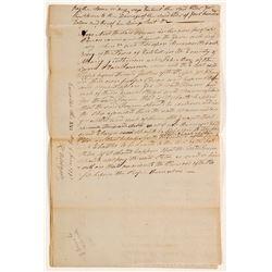 New York Supreme Court (under Robert Yates) Handwritten Document